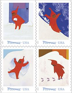 snowy day stamp