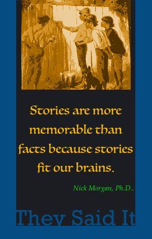 Why we tell stories.